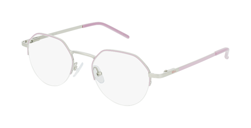 Gafas graduadas mujer LAM rosa/dorado - vue de 3/4