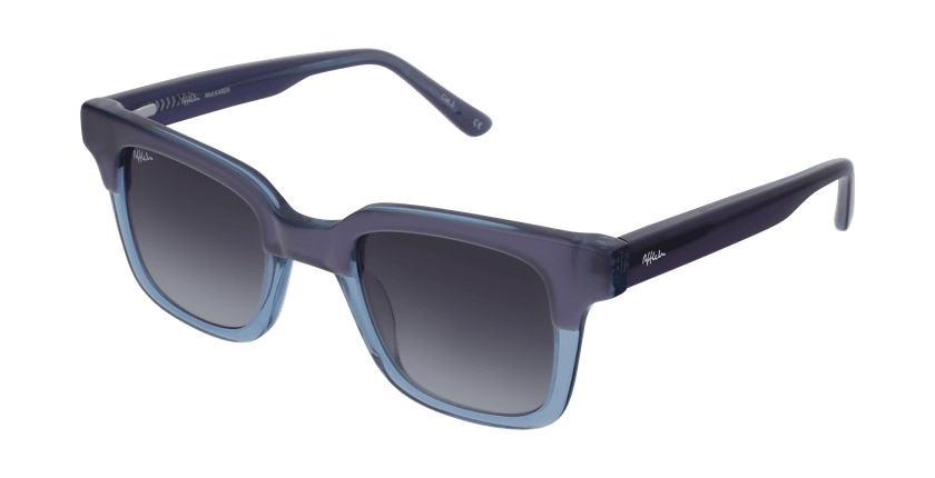 Gafas de sol mujer KAREN morado/azul - vue de 3/4