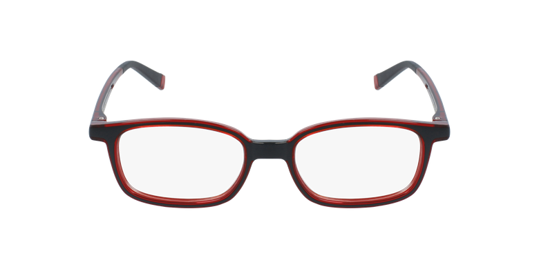 Gafas graduadas niños RFOP1 negro/rojovista de frente