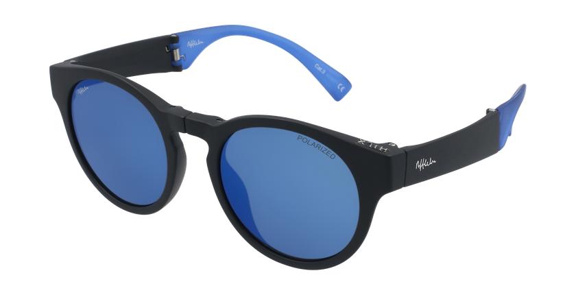 Gafas de sol mujer SLALOM negro/azul - vue de 3/4
