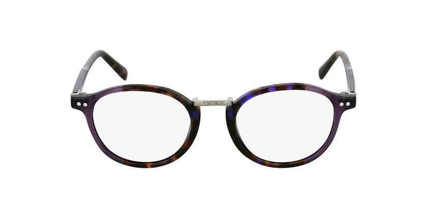 Gafas graduadas BRAHMS carey/morado - vista de frente