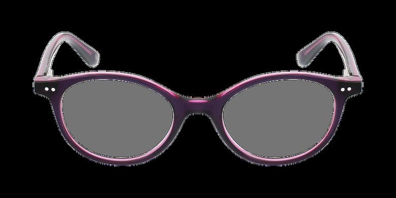 Gafas graduadas niños CAPUCINE morado/rosavista de frente