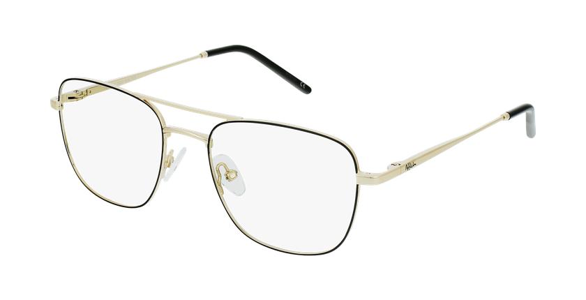 Gafas graduadas hombre WALTER negro/dorado - vue de 3/4
