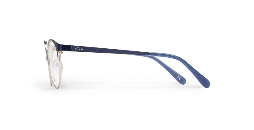 Gafas graduadas niños AYLA azul/plateado - vista de lado