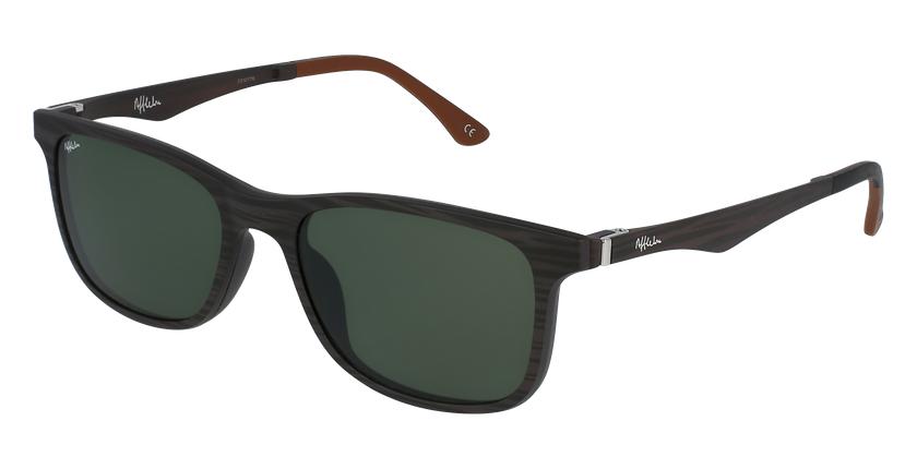 Gafas de sol hombre MAGIC 24 BLUE BLOCK marrón - vue de 3/4