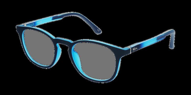 Gafas graduadas niños MAGIC 79 ECO-RESPONSABLE azul/turquesavue de 3/4