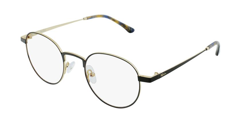 Gafas graduadas MAGIC 70 negro/dorado - vue de 3/4
