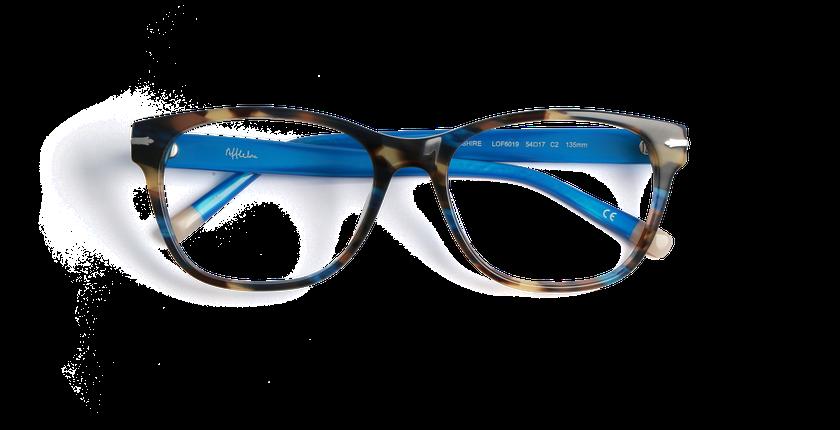 Gafas graduadas mujer YORKSHIRE azul - vista de frente