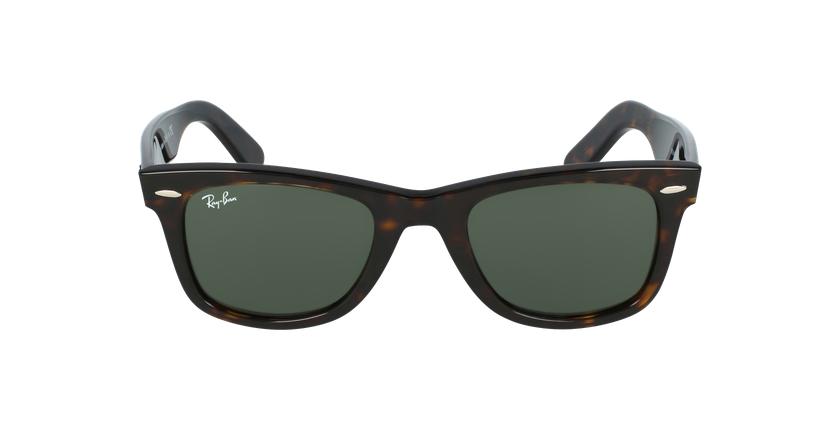Gafas de sol WAYFARER marrón/negro - vista de frente