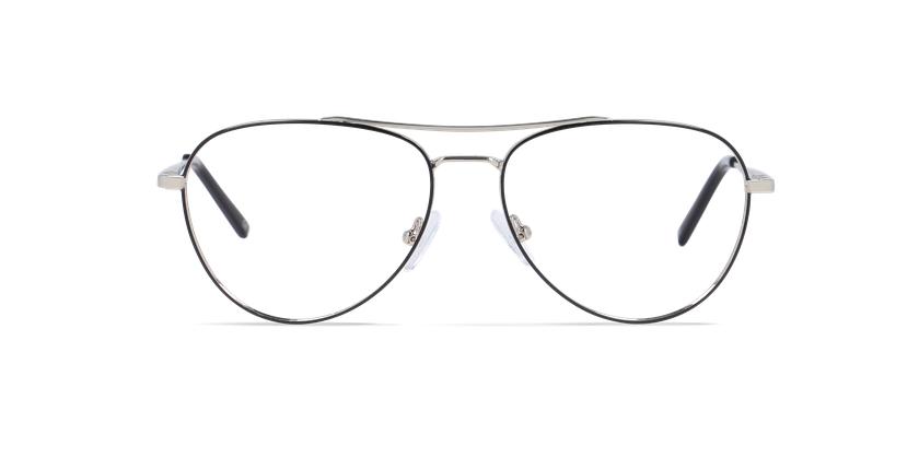 Gafas graduadas hombre MAHE negro - vista de frente