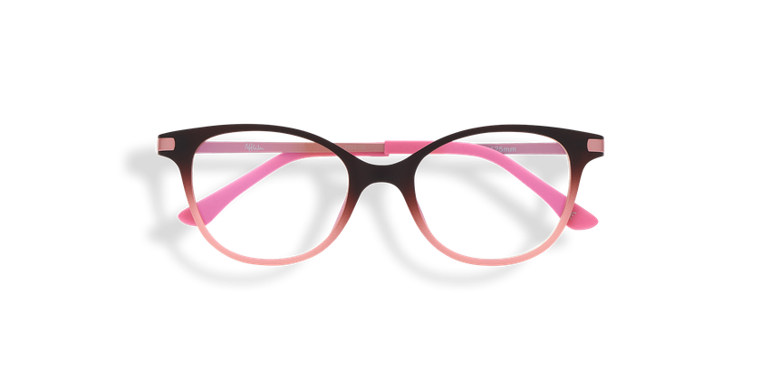 Gafas graduadas niños MAGIC 31 BLUE BLOCK marrón/rosa - vista de frente