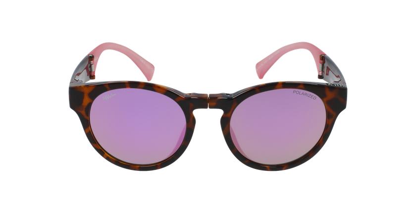 Gafas de sol mujer SLALOM carey/rosa - vista de frente
