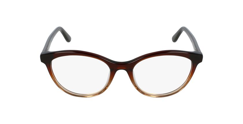 Gafas graduadas mujer AMELLE marrón - vista de frente