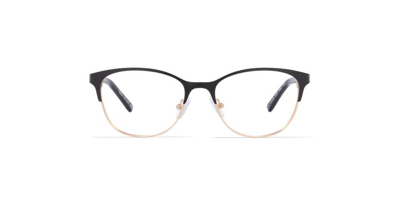 Gafas graduadas mujer CASSY negro/dorado - vista de frente