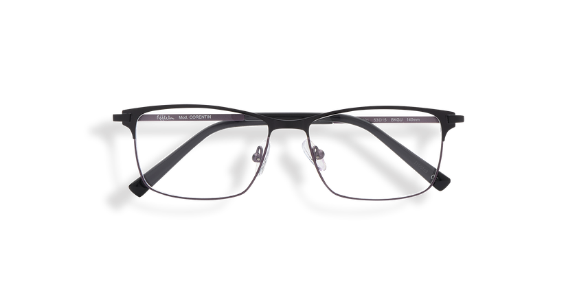 Gafas graduadas hombre CORENTIN negro/gris - vista de frente