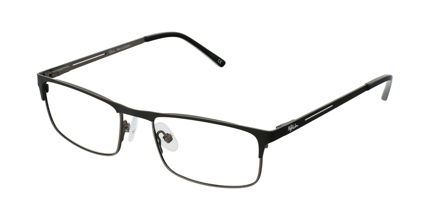 Gafas graduadas hombre LILOUAN negro/gris - vue de 3/4