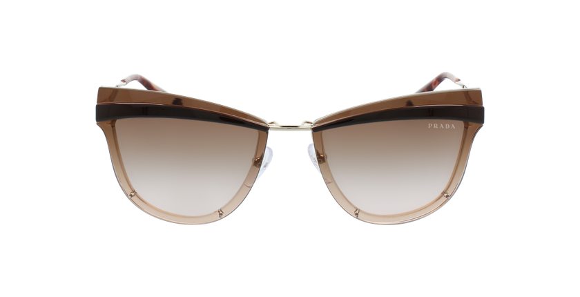 Gafas de sol mujer 0PR 12US dorado/rosa - vista de frente