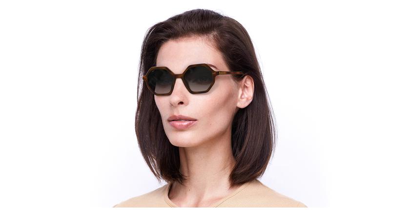 Gafas de sol mujer CLEA carey - vue de 3/4