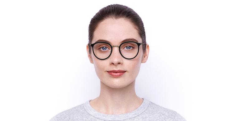 Gafas graduadas INDIANA negro/dorado
