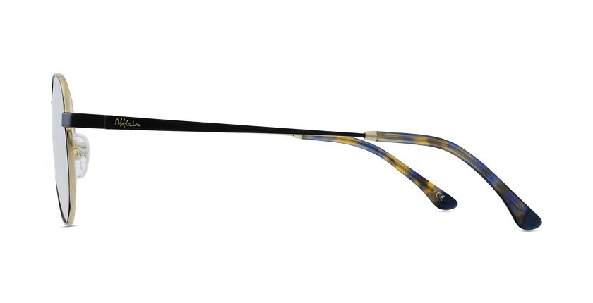 Gafas graduadas MAGIC 70 negro/dorado - vista de lado