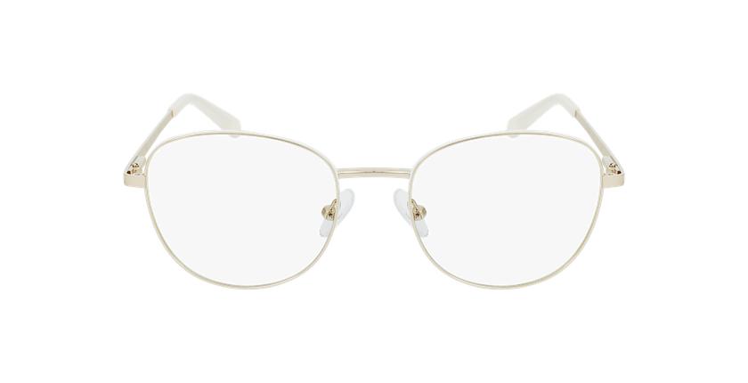 Gafas graduadas mujer LISSOU blanco/dorado - vista de frente