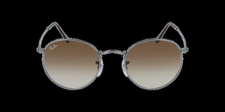 Gafas de sol ROUND METAL marrón/grisvista de frente