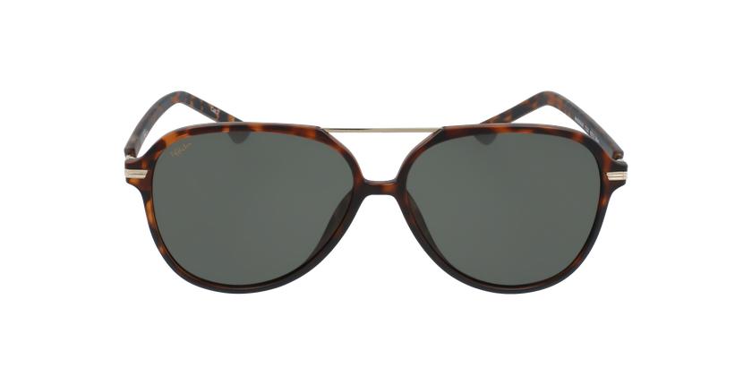 Gafas de sol hombre BASAURI carey/dorado - vista de frente