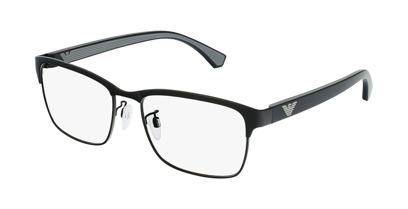 Gafas graduadas hombre EA 1098 negro/negro - vue de 3/4