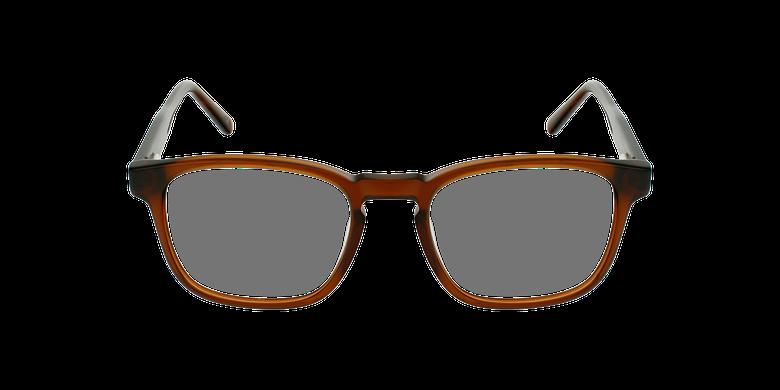 Gafas graduadas hombre CLOVIS marrónvista de frente