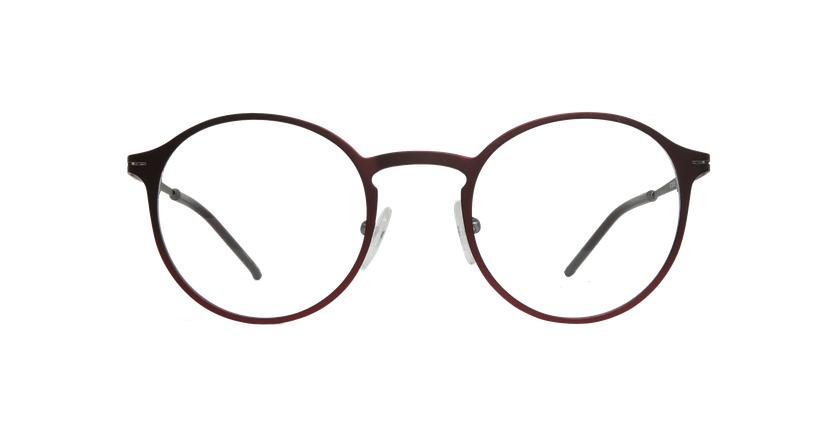 Gafas graduadas hombre AZOTE rojo/gris - vista de frente