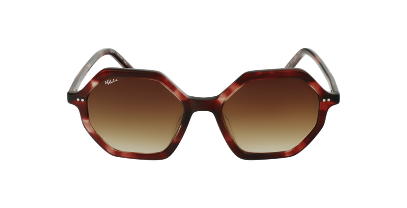 Gafas de sol mujer CLEA rojo - vista de frente