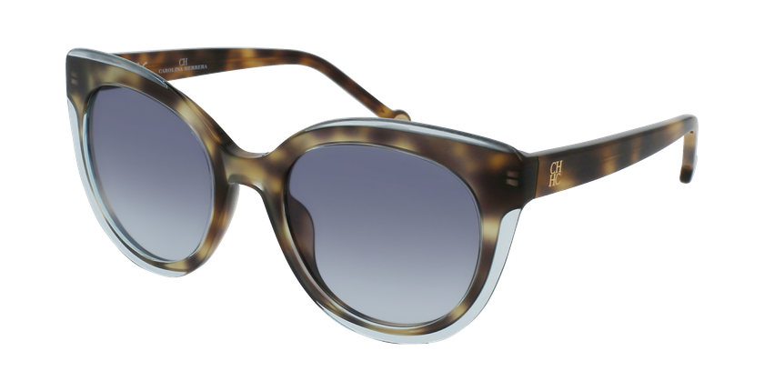 Gafas de sol mujer SHE789 carey/azul - vue de 3/4
