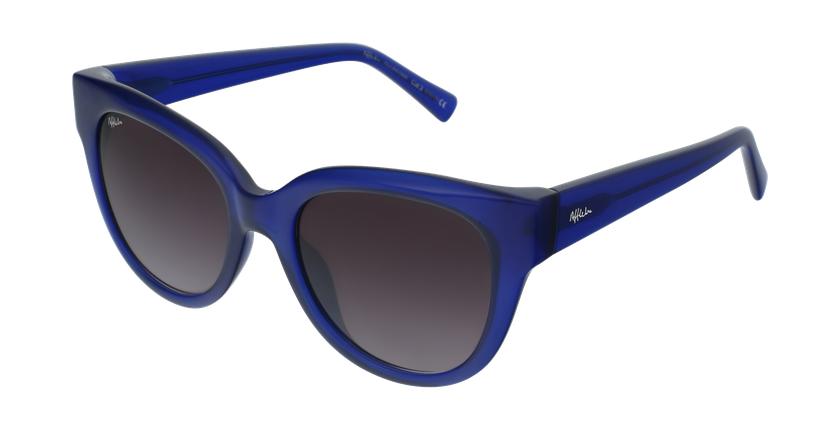 Gafas de sol mujer BRITANY azul - vue de 3/4