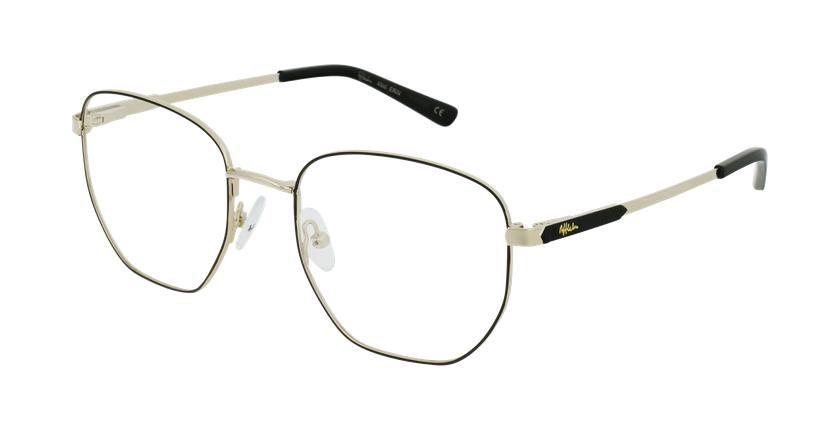 Gafas graduadas mujer ERIN negro/dorado - vue de 3/4