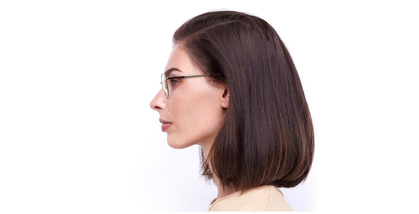 Gafas graduadas mujer ERIN rojo/dorado - vista de lado