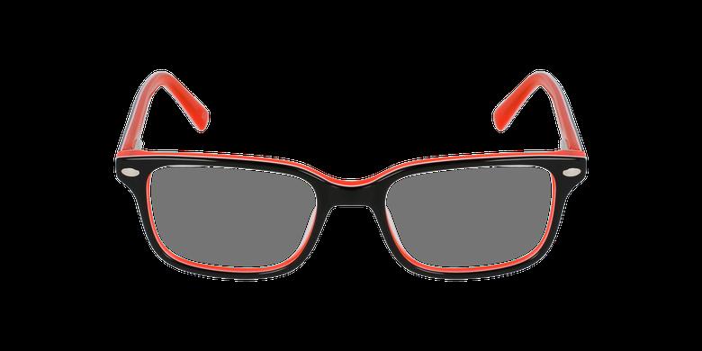 Gafas graduadas niños EDDIE negro/naranjavista de frente