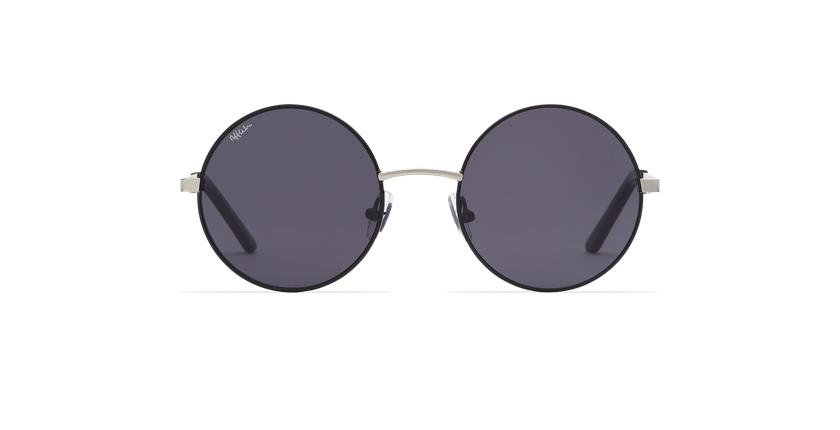 Gafas de sol mujer HOLA negro/plateado - vista de frente