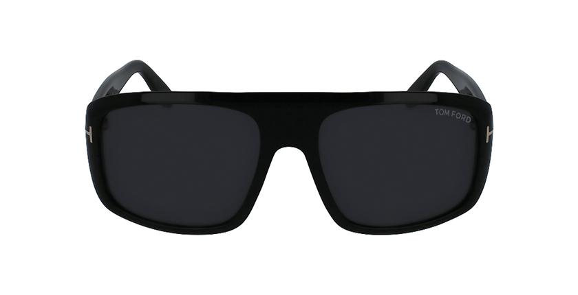 Gafas de sol hombre DUKE negro - vista de frente