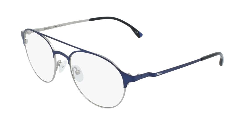 Gafas graduadas hombre MAGIC 52 BLUEBLOCK azul/plateado - vue de 3/4