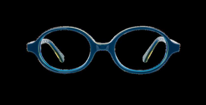 Gafas graduadas niños KEVIN azul/amarillo - vista de frente