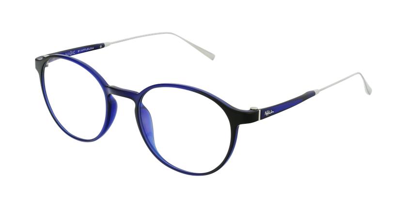 Gafas graduadas MAGIC 65 azul/plateado - vue de 3/4