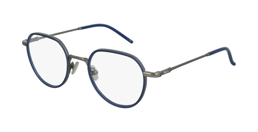 Gafas graduadas DEBUSSY azul/plateado - vue de 3/4