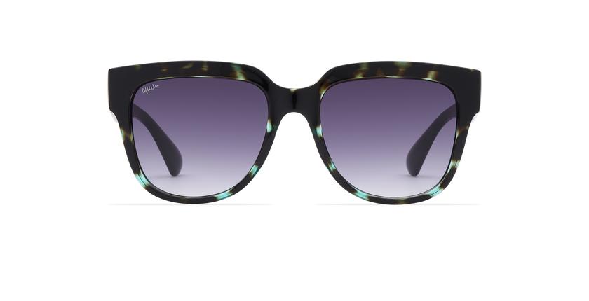 Gafas de sol mujer OSANA carey/verde - vista de frente
