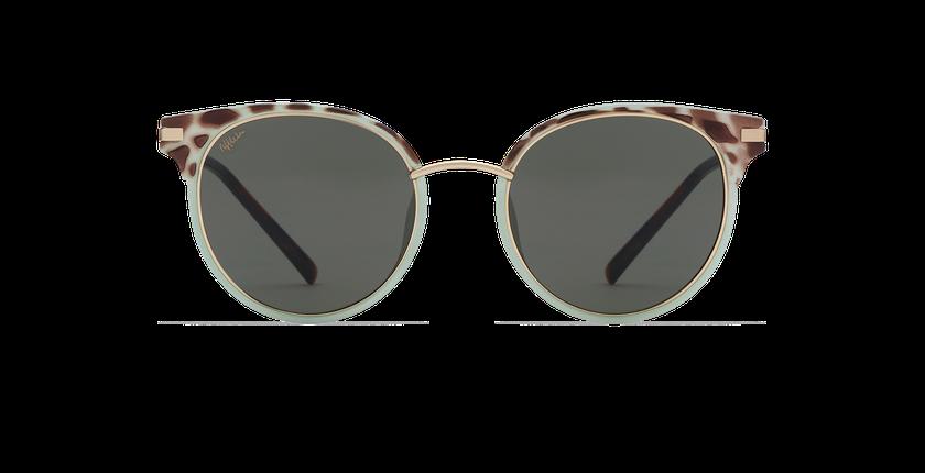 Gafas de sol mujer BARCELO verde/carey - vista de frente