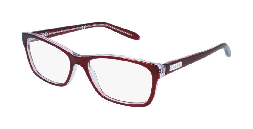 Gafas graduadas mujer RA7039 rojo/rojo - vue de 3/4