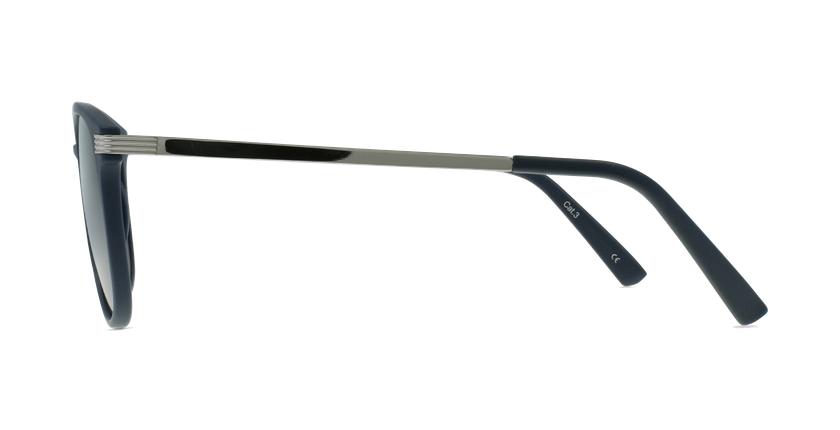 Gafas de sol hombre NIERES azul/plateado - vista de lado