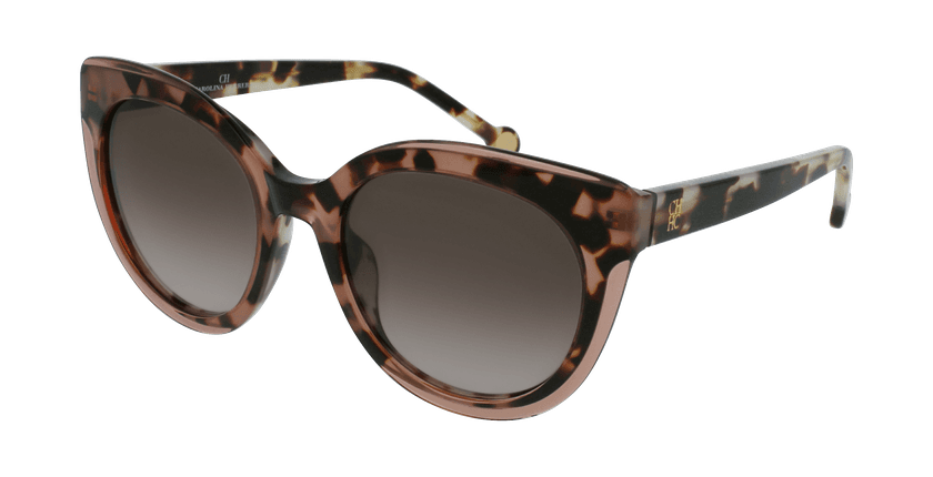 Gafas de sol mujer SHE789 marrón/carey - vue de 3/4