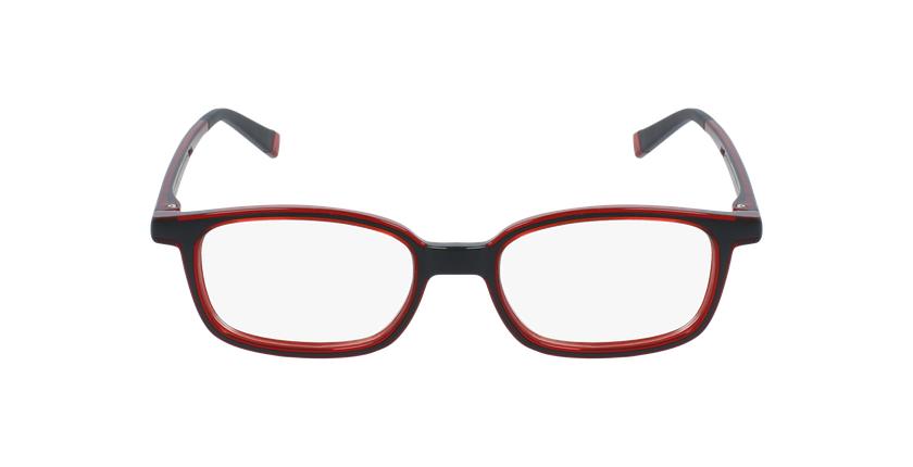 Gafas graduadas niños RFOP1 negro/rojo - vista de frente