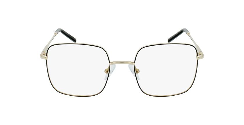 Gafas graduadas niños STELLA negro/dorado - vista de frente
