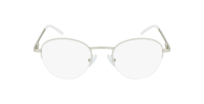 Gafas graduadas mujer DOMI blanco/dorado - vista de frente
